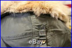 Original Vietnam USAF 1964 Arctic Nylon N-3B Real Fur Parka Jacket Med Exc Cond