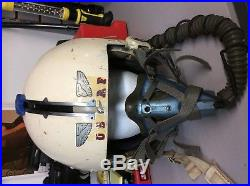 Original Vietnam US Air Force Fighter Pilot Flight Helmet, Oxygen Mask, Shield