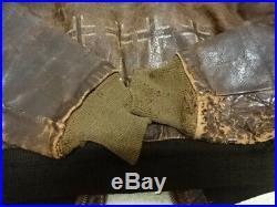 Original Vintage U. S Air Force A2 Flight Leather Jacket Painted France 1943 44