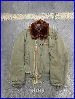 Original WW2 USAAF B-15 Flight Jacket US AIR FORCE Products Vintage As Is