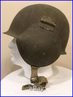 Original WW2 US Army Air Force M-3 Flak Helmet Complete With Liner & Chin Strap