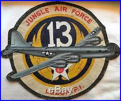 Original WWII Army Air Corps Jungle Air Force Squadron Patches and Book Lot