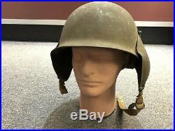 Original WWII WW2 US M3 FLAK AIR FORCE HELMET Nice! Bomber Helmet