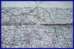 Original Ww2 Royal Air Force Pilots Silk Escape Map, France & Spain, D-day 1944