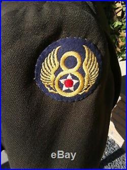 Original Ww2 USAAF 8th Air Force Jacket. Bullion Officers Tunic
