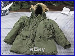 Parka N-3B modified SMALL 72 real fur jacket flight vietnam USAF snorkel fair