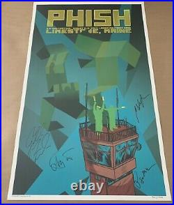Phish Poster Signed X4 IT Festival Loring Air Force Base 8/2 8/3 2003 First Edt