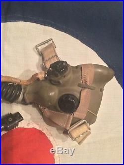 RAF 1963 Fighter Pilots H Type Oxygen Mask Royal Air Force Flying Flight Helmet