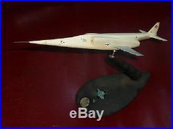 RAREUSAF DOUGLAS X-3 STILETTO Military Jet Airplane Desk Model1952 Authentic