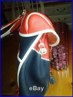 RAREVtg Dooney & Bourke Teton Backpack Air Force Red White Blue WL Purse