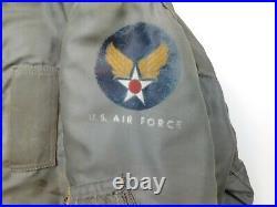 RARE 1950'S Vintage USAF B-15D MOD FLYING JACKET US Military Distressed