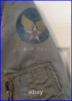 RARE 1950'S Vintage USAF B-15D MOD FLYING JACKET US Military Uniform Clothes 40