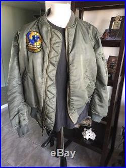 RARE! 1961 Vietnam USAF MA-1 FLIGHT JACKET US Air Force Mil. Skyline Extra Large