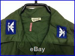 RARE 60's Vintage USAF OG-107 Jacket +Patch Insignia Shirt Military Army Uniform