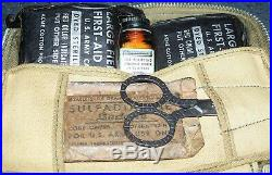 RARE ORIGINAL WW2 U. S. AIR FORCE ISSUE FIRST AID KIT COMPLETE With CONTENTS
