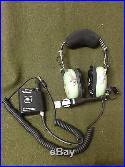 RARE! USAF DAVID CLARK H10-76XL LOW-IMPEDANCE HEADSET US Air Force Military Gear