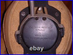 RARE! USAF Early K-1 MA-2 High Altitude Flight Helmet Inner Liner w Electronics