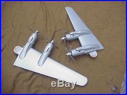 RARE VINTAGE 1950s HUGE USAF DOUGLAS DC-7 AIRCRAFT DISPLAY MODEL With LIGHTS ETC