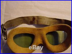RARE VINTAGE WW2 US ARMY AIR FORCE A-N 6530 AVIATORS PILOT GOGGLES W BLOOD STAIN