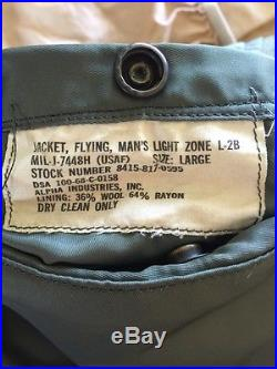 RARE! Vietnam 1968 USAF L2B FLIGHT JACKET US Air Force Mil. Uniform Large NICE