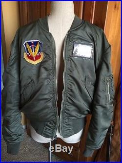 RARE! Vietnam 1970 USAF L2B FLIGHT JACKET US Air Force Mil. Uniform Large NICE