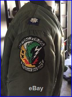 RARE! Vietnam USAF MA-1 FLIGHT JACKET US Air Force Mil. Alpha Medium NICE