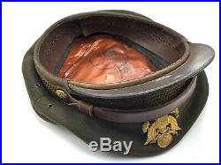 REAL WWII US Army Air Force Crusher Cap Crush Hat Brooks California Size 7-1/4