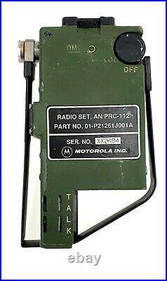 Rare AN/PRC-112 MOTOROLA Survival Pilot Radio US Army USAF Beacon AN/PRC-90