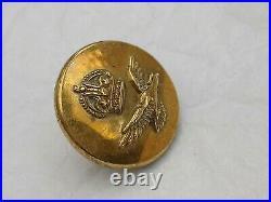 Rare RAF Button Concealed Compass LH Turn J. R Gaunt & Son London Royal Air Force