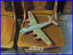 Rare Vintage 1950's USAF B-50 Tin Friction Airplane Bomber USAF Japan