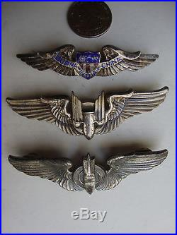 Rare W. W. II. U. S. Air Force Pilot Wings Sterling Collection Vintage Originals