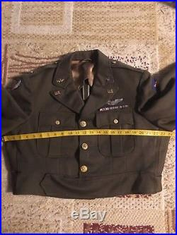 Rare Ww2 Usaaf 9th Airforce Officers Ike Jacket Gaberdine tailored Huge Size 48