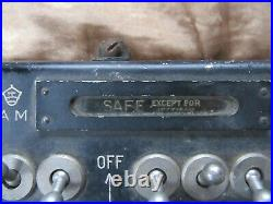 SALE WW2 Lancaster Bomber Bomb Selection Switchbox Arming Panel MUSEUM QUALITY
