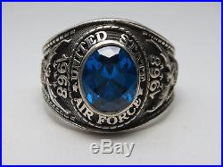 STERLING SILVER RING, THE UNITED STATES, USAF, US AIR FORCE SIZE 13.25, Re182