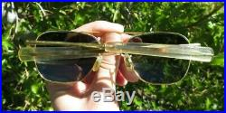 Solaray USAF US Air Force HGU-4/P Aviator Sunglasses 5 1/2 with Case MIL-S-259480