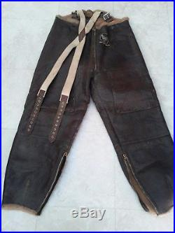 Type B-1 WW2 US Army Air Forces Fleece Lined Leather Flying Pants
