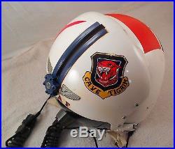 USAF 460th Fighter Interceptor Squadron Pilot Helmet withOXYGEN MASK (GREAT FIND)