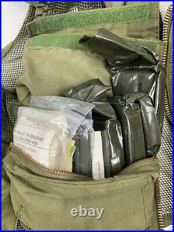 USAF Army Aircrew Pilot SRU-21/P Mesh Survival Vest with First Aid Contents