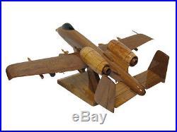 USAF Fairchild Republic A-10 Warthog Thunderbolt II Wooden Wood Replica Model