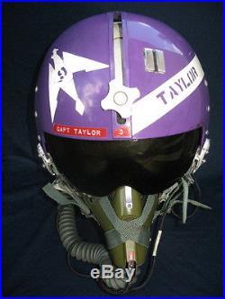 USAF Flight Helmet F-105 Thunderchief Vietnam War Flying Pilot HGU MBU-5/P THUD