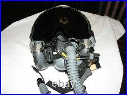 USAF Gentex HGU-55 Fighter Pilot Combat Edge Helmet, Oxygen Mask, Comms Mic