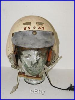 USAF HGU-2/P FLIGHT HELMET, HMU-5/P 1960s Strategic Air Command, Vietnam