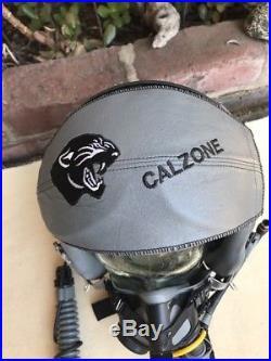 USAF HGU-55/P Combat Edge Jet Helmet MBU-20/P Oxygen Mask & Anti-G Suit Named