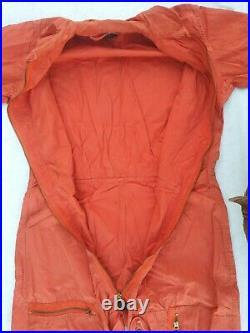 USAF K-2B Orange Very Light Flying Coverall/Flight Suit Size Medium Long 1961