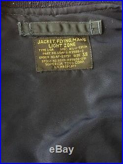 USAF L-2A Flight Jacket by Buzz Rickson's Size 38