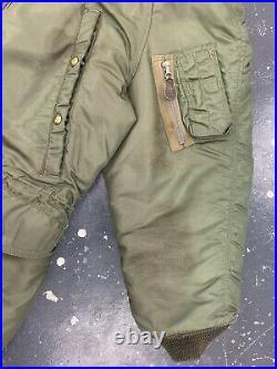 USAF N3 Heavy Aircrew Parka VTG 40s 50s N3b Coyote Fur Hood Medium Flyers Jacket
