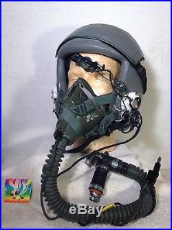 USAF PILOTS GROUP-with HGU-55/P HELMET & OxMask MBU-5/P, survival gear & Insignia