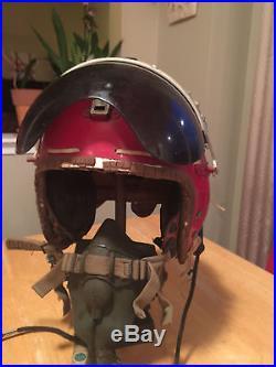 USAF P-4B Gentex Pilot Flight Helmet with Oxygen Mask 1950's Size Large