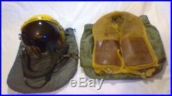 USAF P-4 Fighter Pilot Flight Helmet MBU-12P Mask, Life Vest, 2 Bags -Prominence