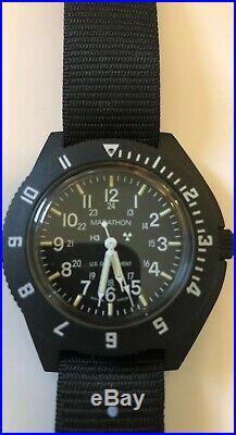 USAF Pilot Watch Marathon Navigator SWISS MADE H3, NEW, MIL-W-4637F JUN 2001